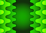Green vertical wave abstract background