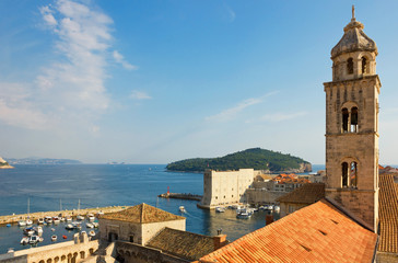 Dubrovnik, The Dominican Monastery Bell Tower and Harbor