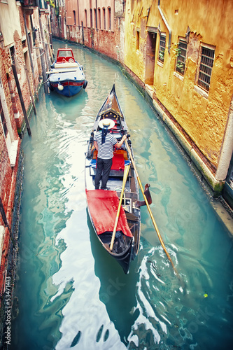 Leinwanddruck Bild Gondola in Venice