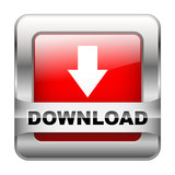 """DOWNLOAD"" Web Button (internet downloads upload click here red)"