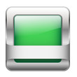 Green Web Button (sign badge icon symbol blank template square)