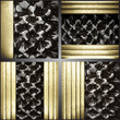 vector gold on fabric background set