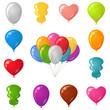 Festive balloons, set
