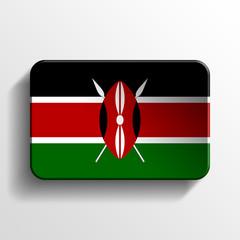 kenya 3d realistic flag