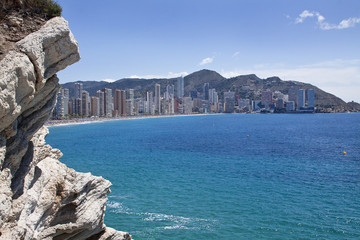 View of touristic Benidorm, Costa Blanca, Spain
