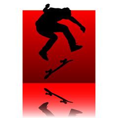 skater red square