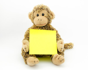 monkey with note pad
