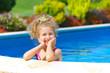 Girl in the pool