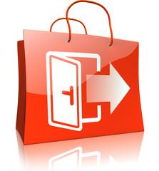 Einkaufstaschen-Serie: Selbstabholung, rot