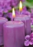 bougies parfum lilas