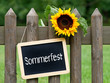 canvas print picture - Sommerfest