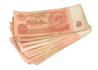 old soviet money, russian rubles