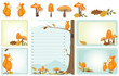 autumn woodland stationery