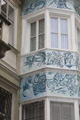 Casa con decorazioni nel centro storico di Bolzano