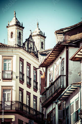 View of  city  Ouro Preto in Minas Gerais Brazil