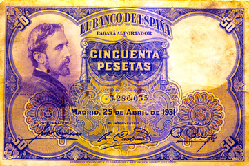 Billete de cincuenta pesetas