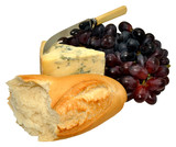 English Stilton Cheese With Grapes And Bread