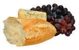 English Stilton Cheese With Bread And Grapes
