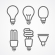 Light lamps icon collection