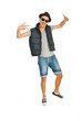 Rapper dancing and gesticulate