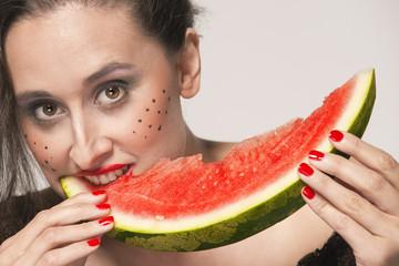 Comiendo fruta