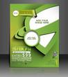 Vector tennis brochure, flyer, magazine cover