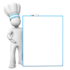 Chef With Signboard