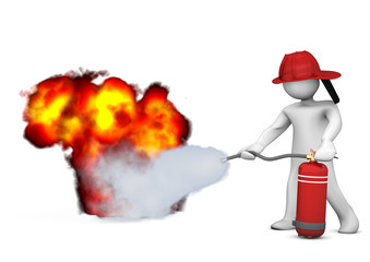 Fireman Extinguisher Fire
