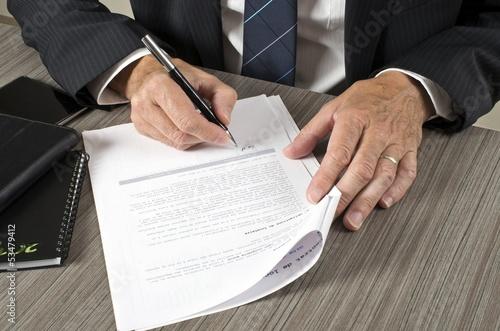 canvas print picture Signature contrat