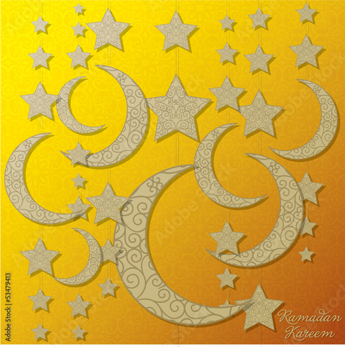 "Hanging decoration ""Ramadan Kareem"" (Generous Ramadan) card i"