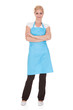 Portrait Of Woman Wearing Kitchen Apron