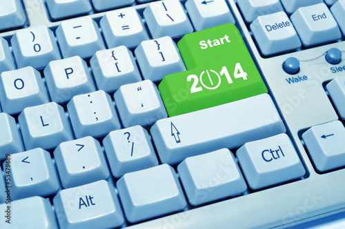 start 2014 of computer keyboard
