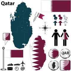 Map of Qatar