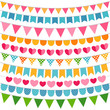 Colorful garlands and bunting flags - 53480220