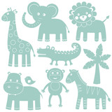 Cartoon animals set