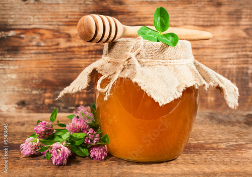 sweet honey from flowering clover
