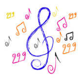 composition from music notes. Vector illustration