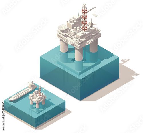 Isometric oil platform