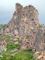 Viviendas rupestres en la Capadocia. Turquia
