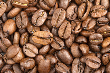 background of fresh coffee beans