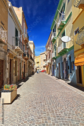 Sardinia - main street in Carloforte