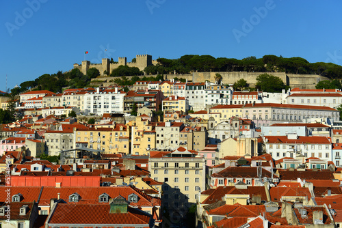 Castle of São Jorge and Alfama district in Lisbon, Portugal