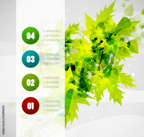 Leaf nature infographics modern template