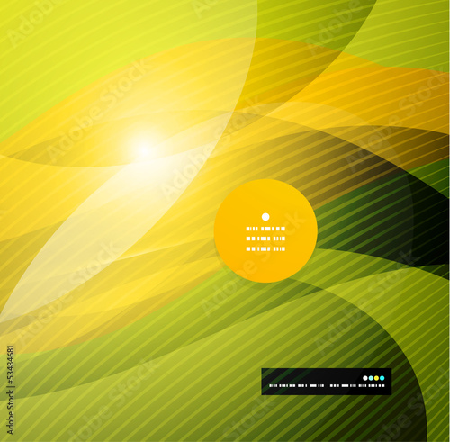 Abstract modern yellow wave template