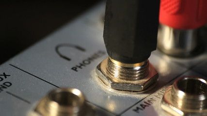 Close-up of audio mixer. Find similar clips in our portfolio.