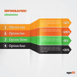 Abstract paper template with striped arrows for infografics