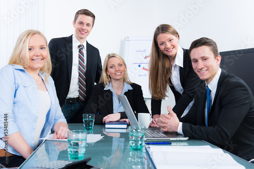 apprentices in a meeting