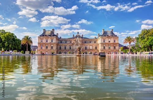 The Luxembourg Palace in The Jardin du Luxembourg, Paris, France - 53486070