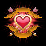 Golden heart design