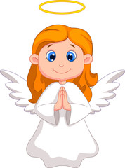 Cute angel cartoon